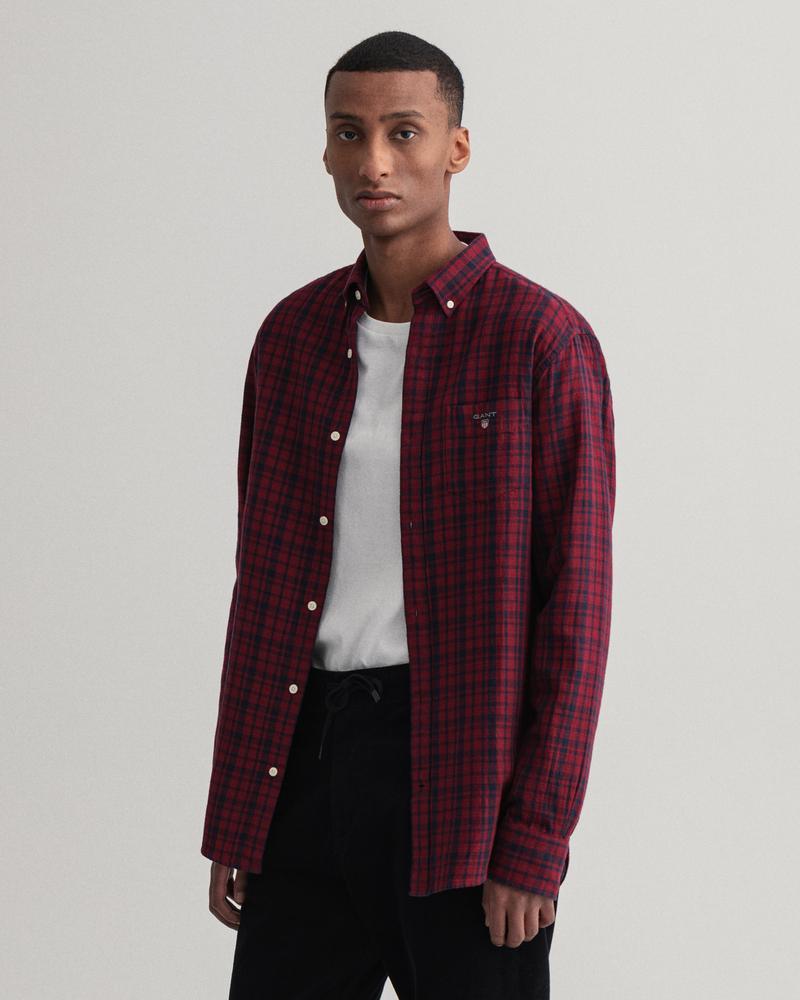Gant Erkek Bordo Regular Fit Düğmeli Yaka Gömlek