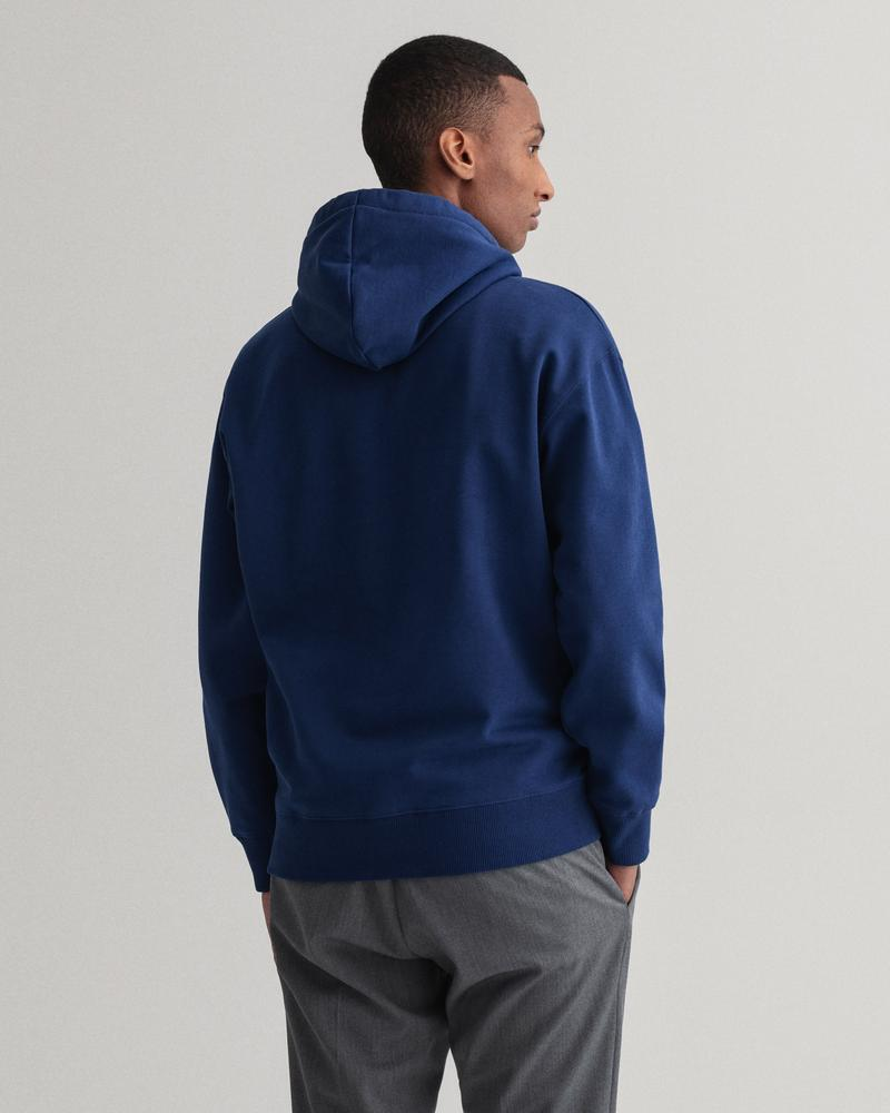 GANT Erkek Lacivert Baskılı Relaxed Fit Sweatshirt