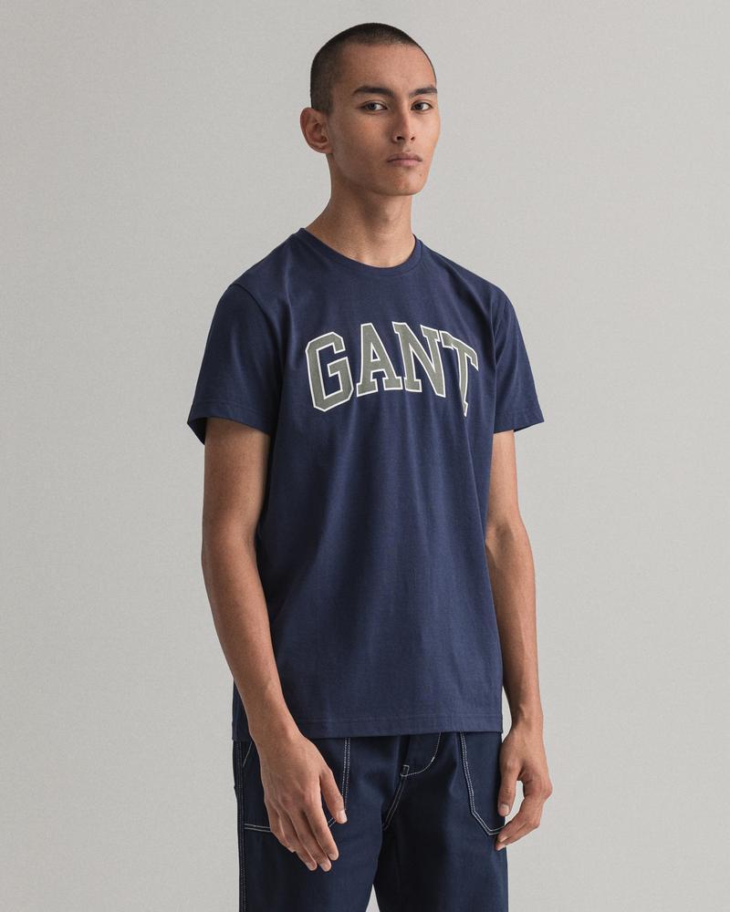 GANT Erkek Lacivert Regular Fit Tshirt
