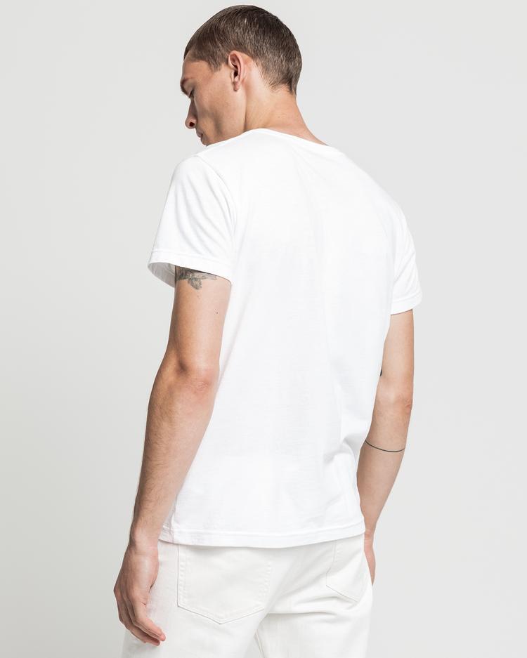 GANT Erkek Beyaz Regular Fit T-Shirt