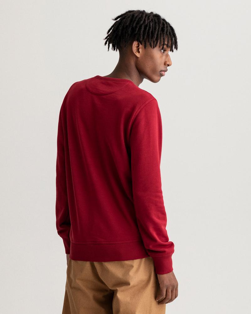 GANT Erkek Bordo Baskılı Regular Fit Sweatshirt