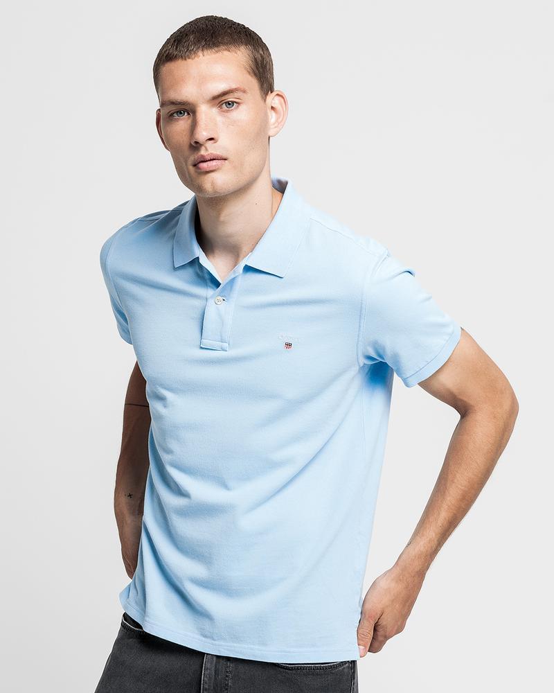 GANT Erkek Açık Mavi Regular Fit Polo