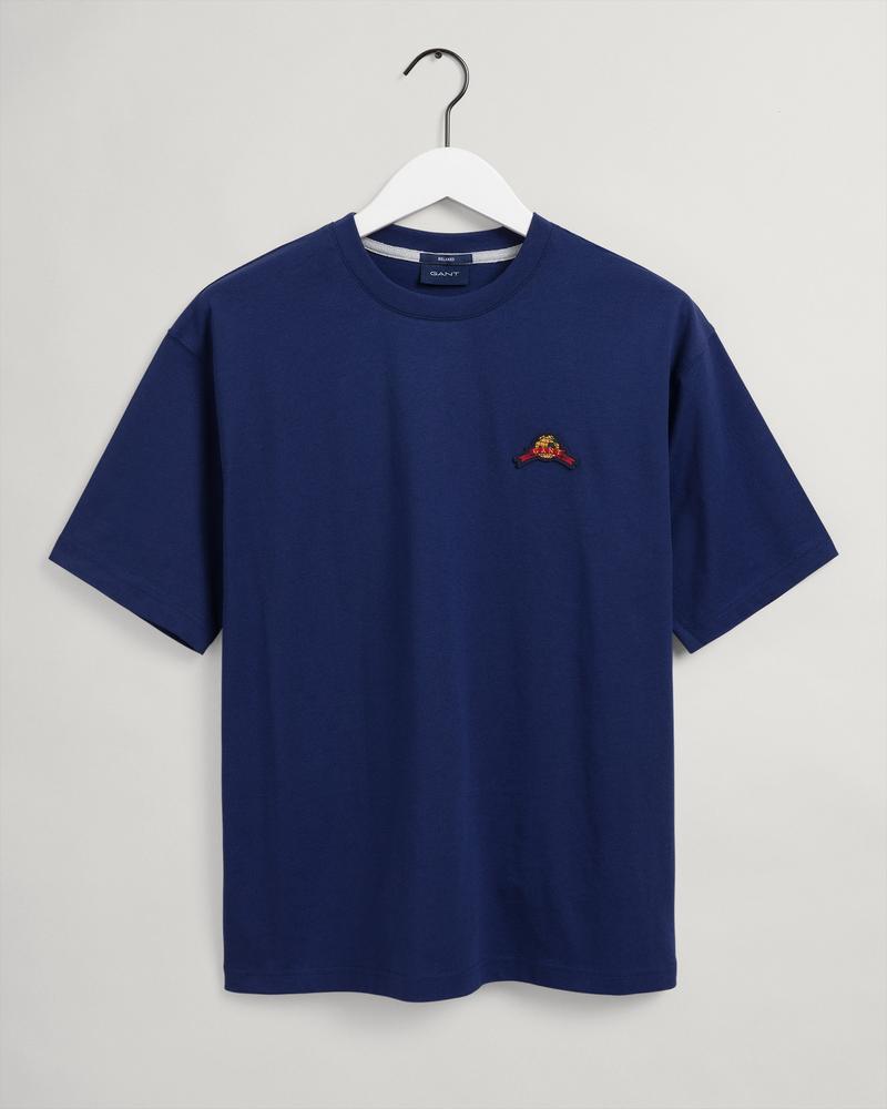 Gant Erkek Mavi Relaxed Fit Kısa Kollu T-shirt