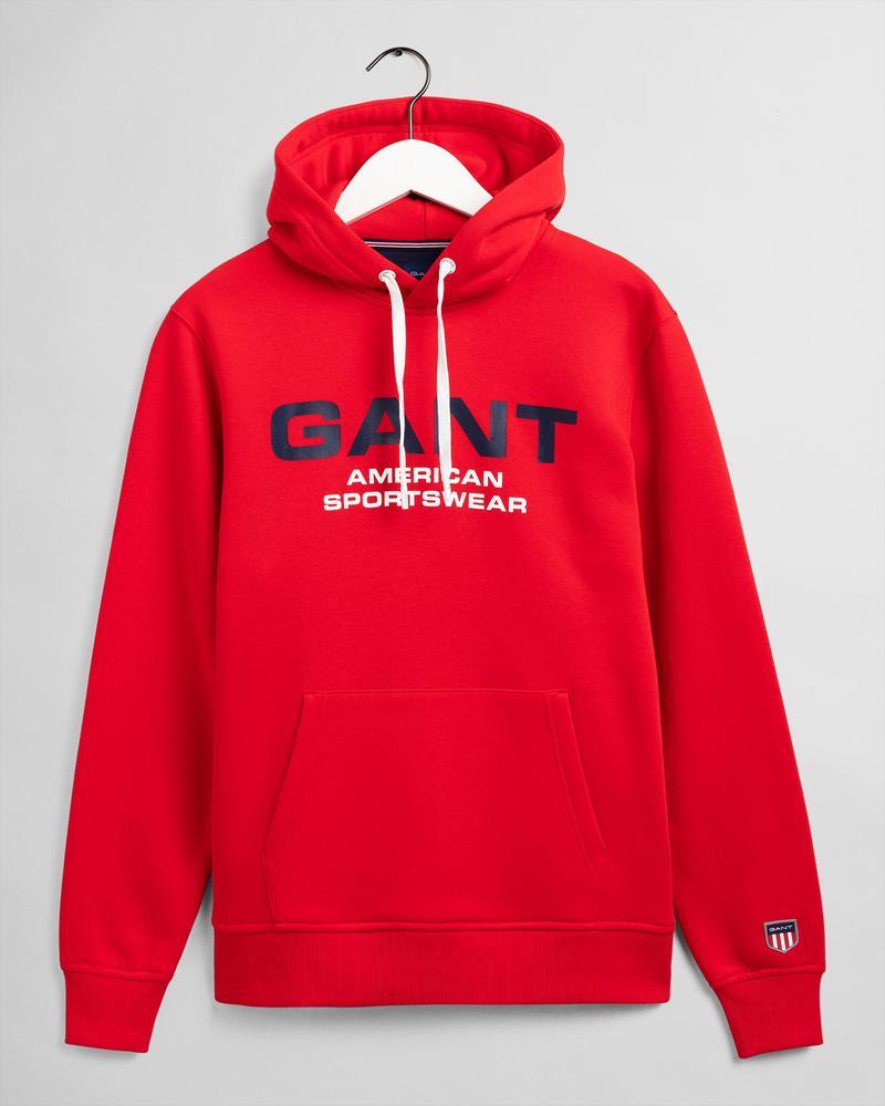 GANT Erkek Kırmızı Baskılı Regular Fit Sweatshirt